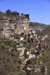 Rocamadour et sa falaise