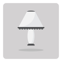 Vector of flat icon, table lamp on isolated background
