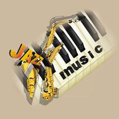 jazz music background with saxophone