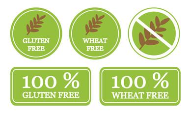 Gluten free set of symbols