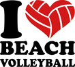 I Heart Beach Volleyball - 81234027