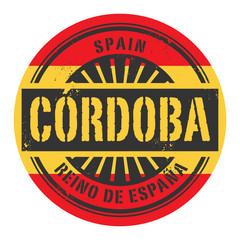 Grunge rubber stamp with the text Spain, Cordoba
