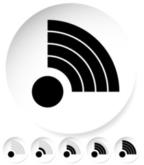 Signal Stength Indicator Set. Internet, Wi-fi, Wireless Connecti