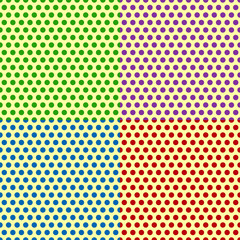 Set of Seamlessly repeatable dotted, polka dot backgrounds, patt