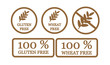 Gluten free and wheat free symbols - 81234837