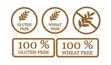 Gluten free and wheat free symbols