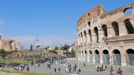 Colosseum, Panormo. Rome, Italy