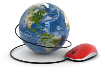 Globe and Computer Mouse (clipping path included)
