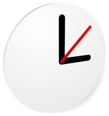 Clock Graphics, Clock Icon. Editable clock with hour, minute and