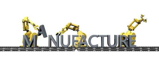 """Fabricatie van het engelse woord """"manufacture"""""""