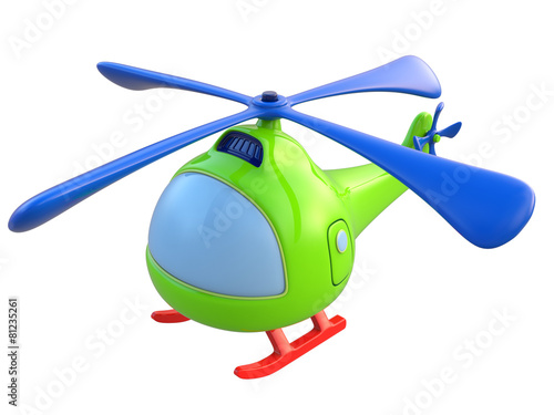 Abstract toy helicopter isolated on white background. 3d render. - 81235261