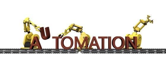 "Automaticering - productie van het woord ""AUTOMATION"""