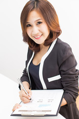 young asian businesswoman working in office
