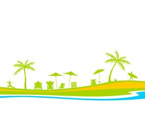 Silhouette Strand Sommer