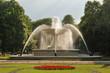 Leinwanddruck Bild - Saxon Garden in Warsaw