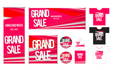 Set of template for Grand sales design