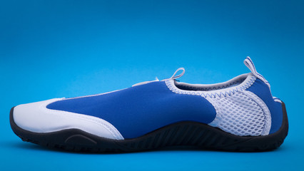 Water Shoe on Blue