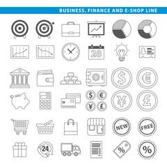 Business finance & e-shop line