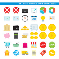Business finance & e-shop color