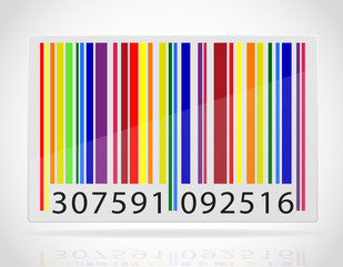 multicolored barcode vector illustration