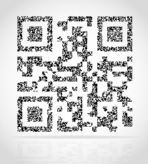 abstract qr code vector illustration