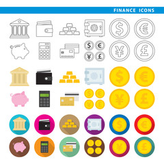 Finance icons.