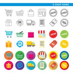 E-shop icons.