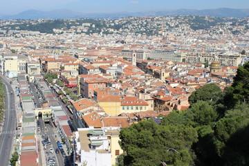 Вид на Ниццу с высоты птичьего полёта