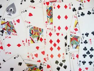 Fondo de cartas de póker
