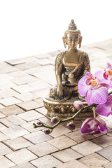 meditation before spa treatment