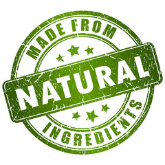 Green natural stamp