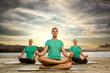 Meditating group