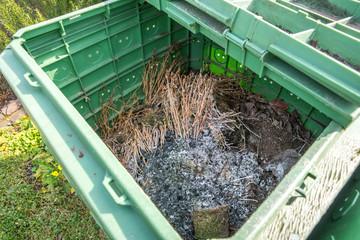 Blick in einen Komposthaufen,
