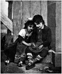 Young Gypsy Beggars - Jeunes Gitans Mendiants - 19th_century