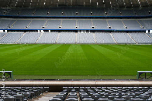 Fotobehang Stadion Empty Football Stadium