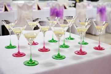 festive table setting table, wedding