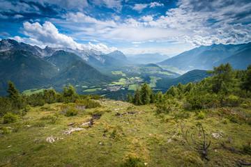 Simmering mountain in Austria