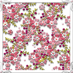 Elegant square pattern, tile design