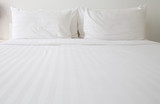 White bed sheets and pillows - 81245852
