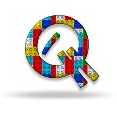 Letter Q block designer