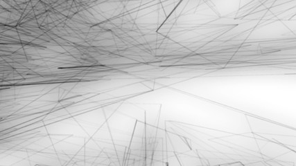 Animated art background with moving pencil drawing