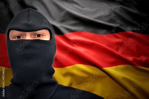 Leinwanddruck Bild german danger