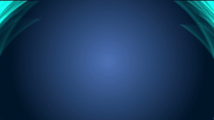 Minimalistic background with animated blue lines ine the corners