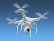 Leinwanddruck Bild - Drone in sky