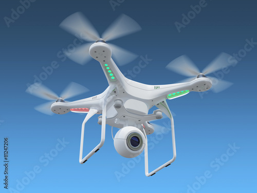 Leinwanddruck Bild Drone in sky