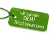 Leinwandbild Motiv Jobangebot Label grün