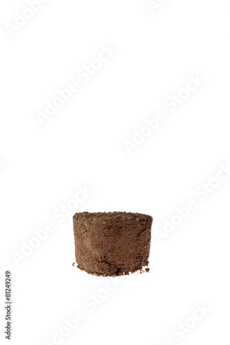 Dirt with a white background