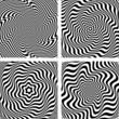 Illusion of wavy rotation and torsion movement.