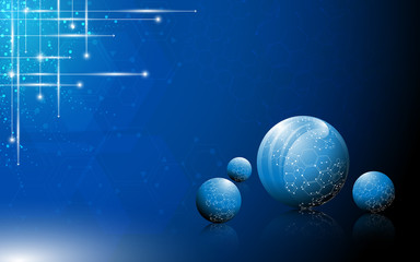 science ball molecular structure abstract background