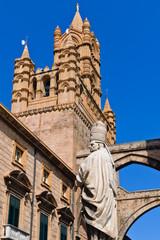 Dettagli della Cattedrale a Palermo